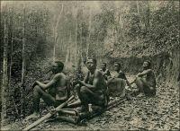 Chemin de portage aménagé en 1925-26. Photo agence économique de l'AEF. – L'exploitation des richesses du Cameroun nécessite une abondante main d'œuvre. Faute de routes et de voies navigables en nombre suffisant, le transport par portage des matières premières –caoutchouc de la forêt notamment- vers la côte, et des marchandises d'importation en retour, mobilise beaucoup de bras. Moyen de transport traditionnel, le portage a explosé avec la mise en valeur des ressources par les colonisateurs successifs. Mais ce développement ne va pas sans inconvénients. Sur le plan économique, il entraine une concurrence entre production et transport, puisque les sociétés commerciales, qui assurent cette seconde tâche, emploient bien plus de travailleurs que les plantations. Dans la région de Mungo, par exemple, il y avait au début du XXème siècle 10 à 20 fois plus de porteurs que de manœuvres dans les exploitations forestières, au détriment des capacités de production. Sur le plan sanitaire, les déplacements incessants engendrés par le portage contribuent à diffuser les maladies, et particulièrement la maladie du sommeil, qui va provoquer une effroyable hécatombe en Afrique centrale puis en Afrique de l'Ouest. D'un point de vue politique, l'accroissement du portage  n'est pas non plus sans conséquences. Il nécessite d'importer des populations des régions les plus peuplées de l'intérieur vers les zones moins denses de la côte et entraine également des troubles lorsque les porteurs pillent les villages pour palier à l'insuffisance du ravitaillement prévu sur leur parcours. Sources : Champaud, J., Villes et campagnes du Cameroun de l'ouest, Paris, éditions de l'ORSTOM, 1983.