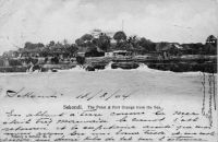 Sekondi. The Point & Port Orange from the Sea - Carte postale écrite en 1904