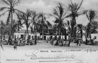 Sekondi, Market place - Carte postale écrite en 1904