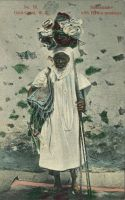Hausa trader with native products.