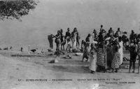 Balanldougou, lavoir sur les bords du Niger - Carte écrite et postée le 05.09.1912 - Il doit s'agir d'un des Balandougou du cercle de Siguiri