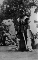 Partisan méhariste. – Les populations des régions sahariennes, Touaregs notamment, sont associées dès la conquête coloniale à la sécurité de leur territoire. Ainsi, face à la résistance rencontrée et à l'immensité des étendues à contrôler, l'armée française arme certains clans, achetant par la solde la fidélité de rebelles potentiels, qu'on désigne comme « partisans ». Le but alors est de prévenir les incursions de rezzous dans les régions productives de la boucle du Niger. Un siècle plus tard, la pratique perdure d'une certaine manière avec les Etats indépendants, dont l'autorité peine à s'étendre si loin des capitales. Les malentendus et le vocabulaire qui prévalaient à Paris au XIXème siècle, quand on expliquait à la Chambre que la conquête se heurtait aux agissements de « bandits armés », perdurent eux aussi. Les gouvernements concernés continuent ainsi d'employer ces mêmes mots, qui renient toute dimension politique aux différentes actions des populations locales. Seuls les enjeux territoriaux ont changé. Les régions productives, qu'il convient de protéger, se sont déplacées des marges agricoles du Sahara, vers les zones d'extraction de l'intérieur du désert.