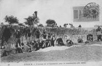 Zinder, travaux de terrassement pour la construction des caves