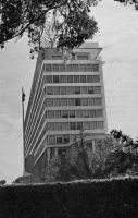 Dakar, l'immeuble des services administratifs vers 1955 - il doit s'agir aujourd'hui du bâtiment des archives nationales