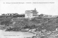 Dakar, palais du Gouvernement et Hôpital - il s'agit de l'hôpital indigène aussi connu comme hôpital Le Dantec