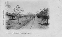 Kaieidi, Haut-Senegal, chemin du poste – Carte postée le 18.04.1902 – Il doit s'agir de la ville de Kaedi, chef-lieu du cercle du Gorgol en Mauritanie.
