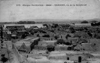 Bamako, vu de la Résidence - La Résidence (celle du gouverneur de la colonie) se situait à Koulouba, une colline qui surplombe la ville.