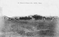 Kayes, Plateau, bâtiment du chemin de fer – Le tronçon de chemin de fer entre Kayes et Bamako remonte à 1904, tandis que celui vers Dakar date de 1924.