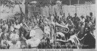 La fanfare d'Agou-Wyongbo (Togo) – Photo de l'agence Togo-Cameroun publiée dans la collection des colonies des chocolats Suchard.