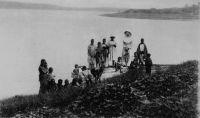 Togo, sur les bords de la lagune - Carte postale issue d'un carnet édité par les Soeurs missionnaires de NOTRE-DAME des APOTRES, Venissieux (Rhône).